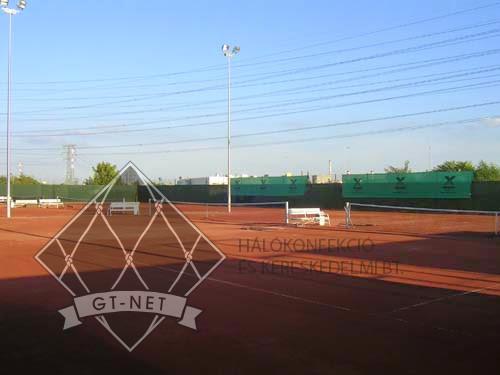 006 Tenisz pálya-háló, logózott háttérháló