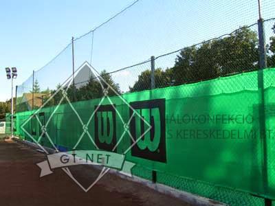 012 Teniszpálya labdafogó háló + háttérháló