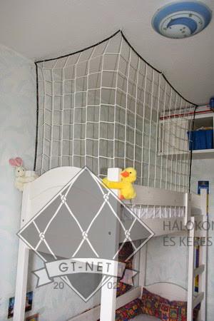 022 Védőháló emeletes gyerekágy köré