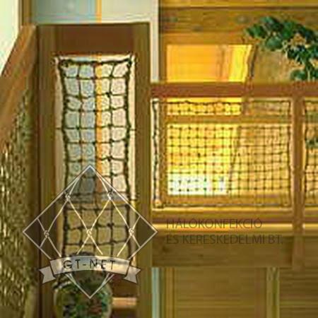 030 Lépcső-korlát védőháló